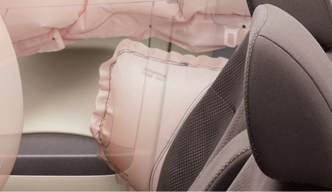Боковые подушки безопасности передних сидений Honda N-WGN