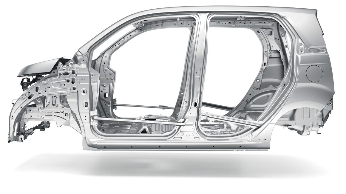 Модель кузова Honda N-WGN с технологией «G-CON»