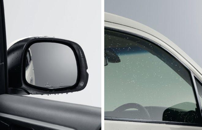 Гидрофильное покрытие зеркал и стекол передних дверей