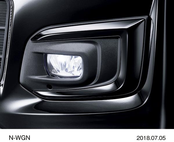 """N-WGN Custom Special Edition """"SS Black Style Package"""" Окантовка противотуманных фар черного цвета (хром и черный лак)"""