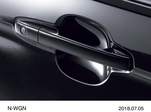 "N-WGN Custom Special Edition ""SS Black Style Package"" Наружная ручка двери (хром и черный лак)"