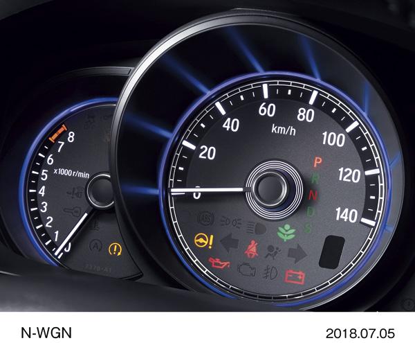 "N-WGN Custom Special Edition ""SS Black Style Package"" Постоянная фиолетовая подсветка приборов"